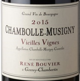 Domaine Rene Bouvier Chambolle-Musigny Vieilles Vignes 2015