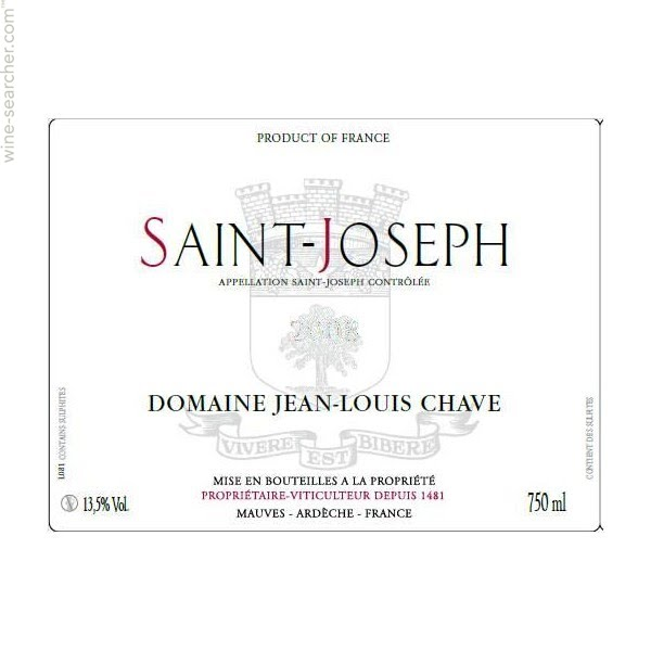 Domaine Jean Louis Chave Saint-Joseph 2016 - Very limited